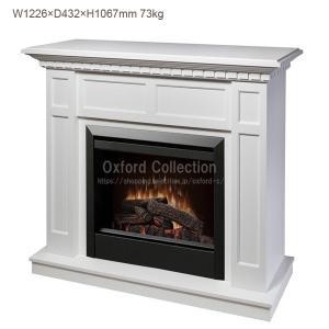 【送料無料】電気式暖炉 キャップライス ホワイト /ディンプレックスカナダ/イタヤランバー/暖炉 温風 暖炉型ヒーター|oxford-c