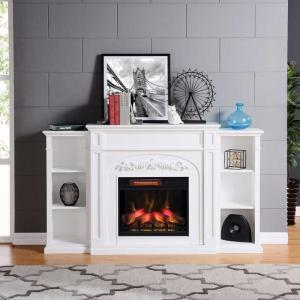 電気式暖炉 シャンティ(3Dパワーヒートタイプ)/ホワイト/送料無料/LLOYD GRANDE/ロイドグランデ/暖炉 温風ヒーター 暖炉型ヒーター oxford-c