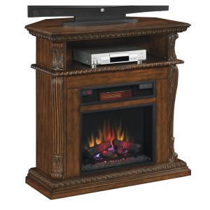 電気式暖炉コリンス バーニッシュドウォールナット 送料無料/LLOYD GRANDE/ロイドグランデ/暖炉 温風ヒーター 暖炉型ヒーター リビング 暖房器具|oxford-c
