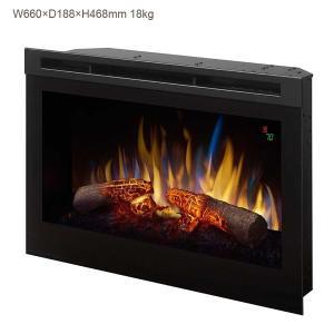 一番人気のディンプレックス25インチ電気式暖炉DFR2550の後継モデルです。 こちらはログ(擬似薪...