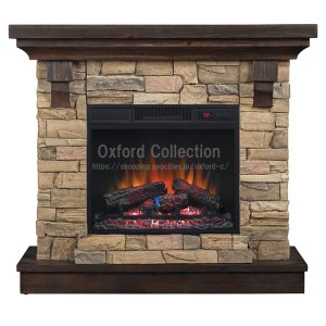 23インチ電気式暖炉パワーヒート ユージン 送料無料/LLOYD GRANDE/ロイドグランデ/暖炉 温風ヒーター 暖炉型ヒーター リビング 暖房器具|oxford-c