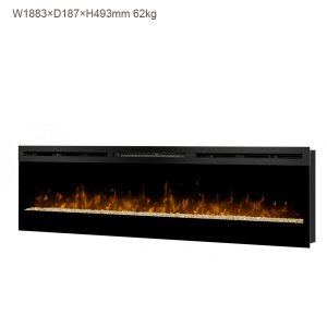 ビルトイン電気式暖炉 74インチ ガルベストン 送料無料/ディンプレックスカナダ/イタヤランバー/暖炉 温風 暖炉型ヒーター リビング 暖房器具|oxford-c