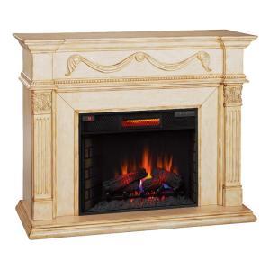 アウトレット/電気式暖炉 ゴッサマー(パワーヒートタイプ) /ホワイトに塗装・アンティークの質感残り/送料無料/ロイドグランデ/暖炉|oxford-c