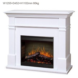 暖炉本体は、暖炉棚にセットされているものではなく、後継モデルの電気式暖炉本体DFR2651Lがセット...