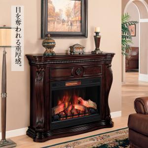 33インチ遠赤外線3D電気式暖炉セット レキシントン  送料無料/LLOYD GRANDE/ロイドグランデ/暖炉 温風ヒーター 暖炉型ヒーター|oxford-c