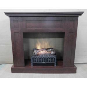アウトレット032/廃盤品暖炉棚ウォールマントルチェリーとログセットのセット商品/ロイドグランデ/イタヤランバー/送料無料|oxford-c