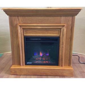 アウトレット047/18インチ電気式暖炉オーク 送料無料/LLOYD GRANDE/ロイドグランデ/暖炉 温風ヒーター 暖炉型ヒーター リビング 暖房器具|oxford-c