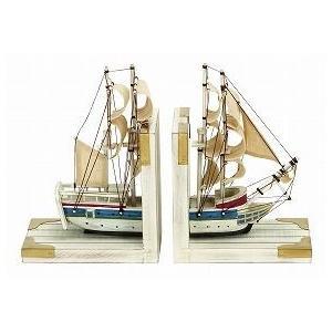 アウトレット 帆船ブックエンド2個セット60521/帆船曲がり/送料無料|oxford-c