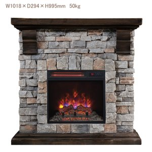 18インチ電気暖炉セット パイオニア  パワーヒートタイプ 送料無料/LLOYD GRANDE/ロイドグランデ/暖炉 温風ヒーター 暖炉型ヒーター リビング 暖房器具|oxford-c