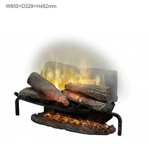 レヴィルーションシリーズは、曇ったアクリルガラスに映る炎が薪の間から燃えて見える 全く新しいタイプの...