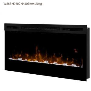 ディンプレックス34インチ電気式暖炉です。 こちらは電気式暖炉本体のみとなります。 透明なアクリルア...