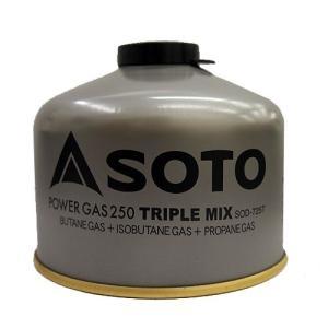 SOTO(ソト) パワーガス250トリプルミックスSOD-725T【ガス/登山用/OD缶】|oxtos-japan