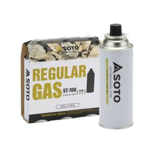 SOTO(ソト)レギュラーガス3本パック ST-7001【ガス/ボンベ/カートリッジ/家庭用】|oxtos-japan