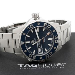 タグホイヤー アクアレーサー キャリバー5 WAJ2112.BA0870 ブルー Gカード 腕時計 美品...