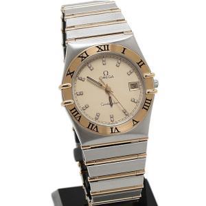 オメガ コンステレーション 22Pダイヤ メンズ 396.1070 OH・磨き済 腕時計 美品...