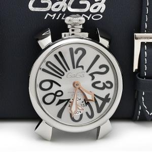 ガガミラノ マヌアーレ 48mm 5010 裏スケ手巻き メンズ 磨き済 腕時計 美品