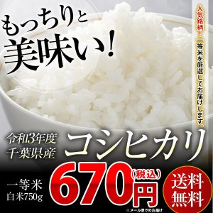 コシヒカリ 750g 29年千葉県産 白米 精米 お米 送料...