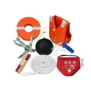 法定備品 限定沿海セット 4人用(認定救命具4着 黒球2枚) ozatoya