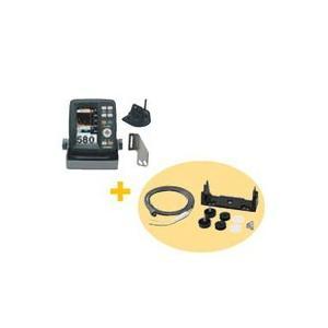 ホンデックス(HONDEX) 魚群探知機 PS-500C〈4.3型ワイドカラー ポータブル魚探〉 電源コード・架台セット|ozatoya