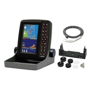 ホンデックス(HONDEX) 魚群探知機 PS-611CN〈5型ワイドカラー ポータブルGPS内蔵プロッター魚探〉電源コード・架台セット|ozatoya