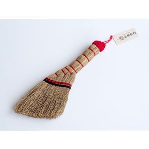 レトロなほうき ブラシ 刷毛 持ちやすい 洋服払い 編み 小箒 肩払い 白木屋傳兵衛|ozawa-shoten