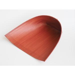 レトロな紙製ちりとり 柿渋 静電気が起きない 長柄の箒のほうきに最適 はりみ 大 穴付き 白木屋傳兵衛|ozawa-shoten