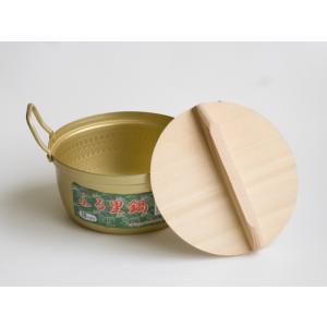レトロな両手鍋 昔懐かしい 木蓋付 両手なべ ふる里鍋 18cm 前川金属|ozawa-shoten