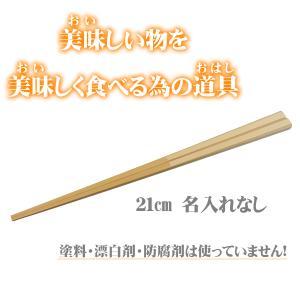 マイ箸 すべらない竹箸 女性用 21cm お試し価格 my箸