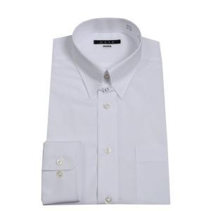 ワイシャツ メンズ 長袖 白 タブカラー 形態安定 形状記憶...