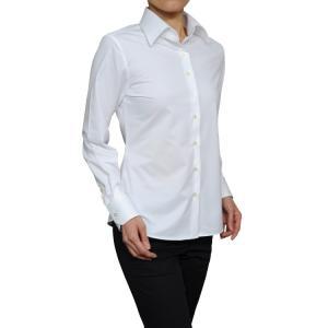 レディース シャツ ビジネス ワイシャツ ブラウス ビズポロ ニット 長袖 ワイド クールマックス イージーケア クールビズ 日本製 ナチュラルフィット 大きい|ozie