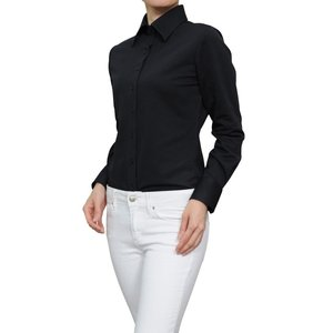 レディース シャツ ビジネス ワイシャツ ブラウス ビズポロ ニット 鹿の子 長袖 ワイド イージーケア クールビズ 日本製 UVカット ナチュラルフィット 大きい|ozie