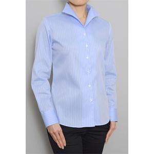 レディース シャツ ビジネス ワイシャツ ブラウス長袖 イタリアンカラー クールマックス イージーケア 日本製 ナチュラルフィット トップス 大きいサイズ OL|ozie