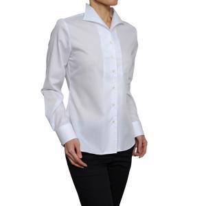 レディース シャツ ビジネス ワイシャツ ブラウス 長袖 イタリアンカラー クールマックス イージーケア 日本製 ナチュラルフィット トップス 大きいサイズ OL|ozie
