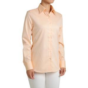 レディース シャツ ビジネス ワイシャツ ブラウス 長袖 ワイドカラー 形態安定 綿100% プレミアムコットン オックスフォード 日本製 ナチュラルフィット OL|ozie