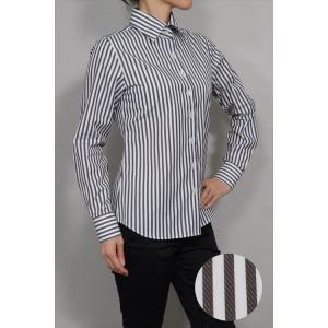 レディースシャツ ワイシャツ ブラウス ビジネス 長袖  ワイドカラーシャツ 綿100% 日本製 ナチュラルフィット トップス 大きいサイズ おしゃれ オフィス OL 4L|ozie