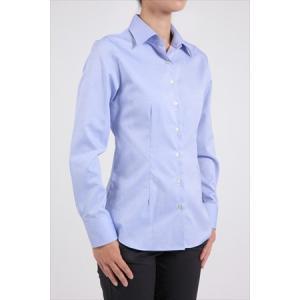 レディース シャツ ビジネス ワイシャツ ブラウス 長袖 ワイドカラー 形態安定 綿100%  プレミアムコットン オックスフォード 日本製 スリム トップス おしゃれ|ozie