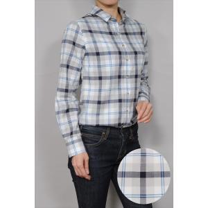 レディースシャツ ワイシャツ ブラウス カジュアル 長袖  チェック ワイドカラーシャツ 綿100% 日本製 ルーズフィット トップス 大きいサイズ おしゃれ 着丈長め|ozie