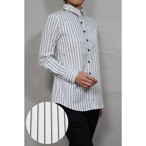 レディースシャツ ワイシャツ ブラウス 長袖 ホワイト 白 ワイドカラーシャツ プレミアムコットン 日本製 リラックスフィット トップス 大きいサイズ ozie