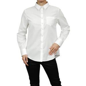 レディースシャツ ワイシャツ ブラウス 長袖 ホワイト 白 ワイドカラー 形態安定 日本製 リラックスフィット トップス 大きいサイズ おしゃれ|ozie