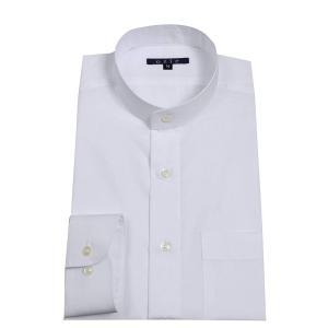 ワイシャツ メンズ ドレスシャツ レギュラーフィット プレミアムコットン 形態安定 綿100% スタンドカラー 日本製|ozie