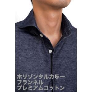 ポロシャツ メンズ ビズポロ ニット ニットシャツ スリム ネイビー 紺 プレミアムコットン ジャージー ネルシャツ イージーケア ノーアイロン ホリゾンタル|ozie