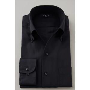 メンズ ドレスシャツ ワイシャツ タイトフィット オックスフォード イタリアンカラー ボタンダウン スキッパー 第一ボタン無し