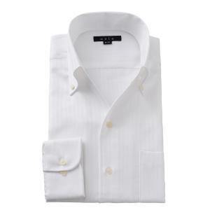 イタリアンカラー シャツ メンズ ワイシャツ ボタンダウン スキッパー 長袖 スリム ホワイト 白 プレミアムコットン 形態安定 無地 大きいサイズ おしゃれ ozie