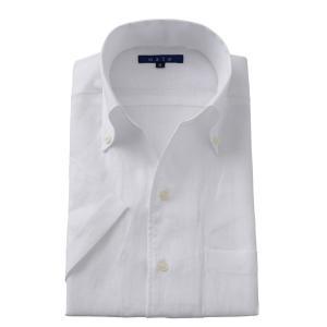 イタリアンカラー ワイシャツ スキッパーシャツ ボタンダウン メンズ 半袖 スリム リネンシャツ 麻 夏用 ビジネスシャツ Yシャツ カッターシャツ おしゃれ|ozie
