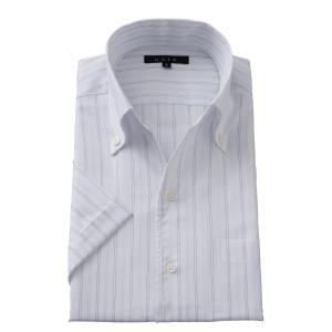 イタリアンカラー ワイシャツ スキッパーシャツ ボタンダウン メンズ 半袖 スリム ブルー 青 クールマックス  ビジネスシャツ 涼しい 吸湿速乾 おしゃれ|ozie