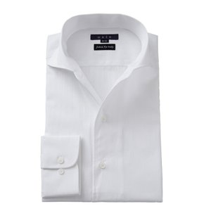 ワイシャツ メンズ 長袖 イタリアンカラー ワイド スリム ホワイト 白 イタリア製生地 ビジネスシャツ ドレスシャツ おしゃれ ozie