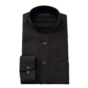 ワイシャツ メンズ 長袖 スタンドカラー ブラウン 茶色 ビジネスシャツ ドレスシャツ 大きいサイズ おしゃれ|ozie