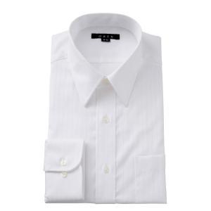 ワイシャツ メンズ 長袖 形態安定 ドレスシャツ タイトフィット ホワイト 白 綿100% プレミアムコットン レギュラーカラー ドレスシャツ おしゃれ|ozie