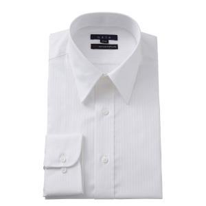 メンズ ドレスシャツ ワイシャツ タイトフィット ホワイト 白 綿100% イージーケア プレミアムコットン 120番手 レギュラーカラー ドレスシャツ おしゃれ|ozie