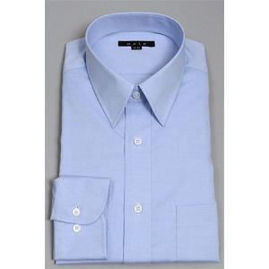 ワイシャツ メンズ ドレスシャツ タイトフィット プレミアムコットン 形態安定 レギュラーカラー  オックスフォード
